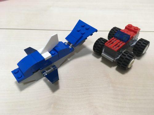 レゴで作ったイルカと車